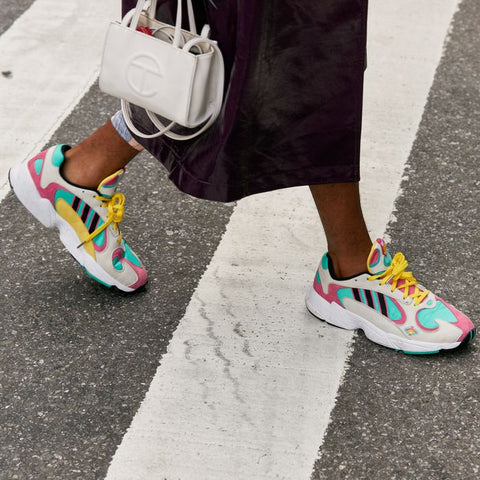 colourful sneakers by philippe model and p448