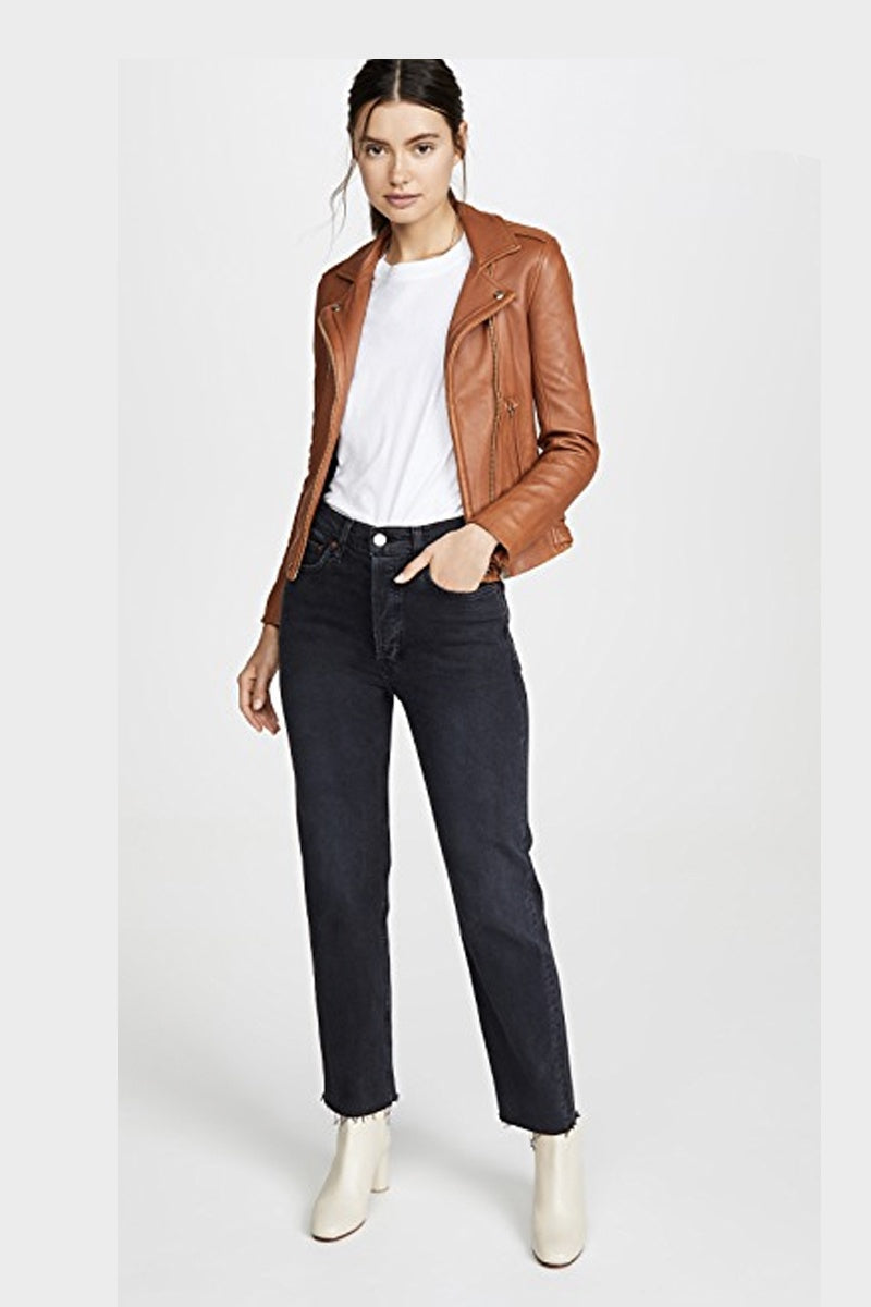 IRO - NEW HAN LEATHER JACKET CAMEL