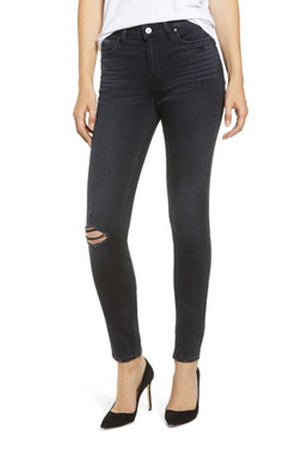 PAIGE - HOXTON ULTRA SKINNY BLACK LAVA DESTRUCTED