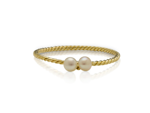 BABY ANYTHING - HANALEI PEARL RING YELLOW GOLD K.5
