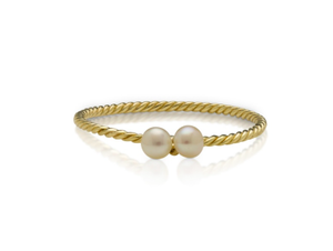 BABY ANYTHING - HANALEI PEARL RING YELLOW GOLD