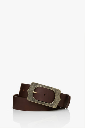 BA&SH - BELINA LEATHER BELT BROWN