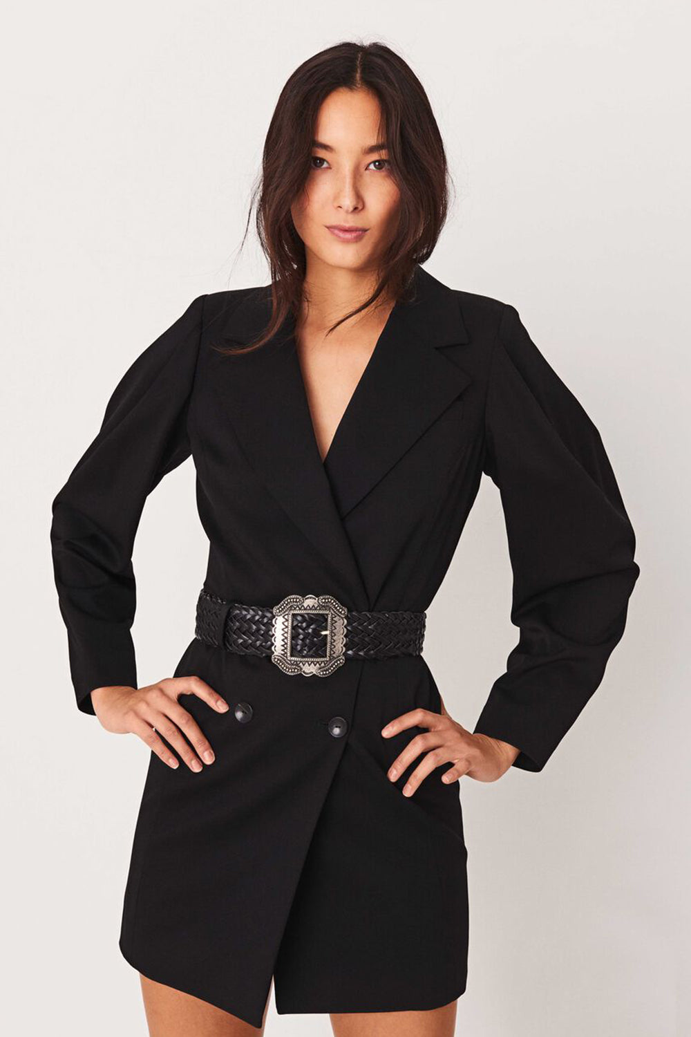 BA&SH - KARLY BLAZER DRESS NOIR