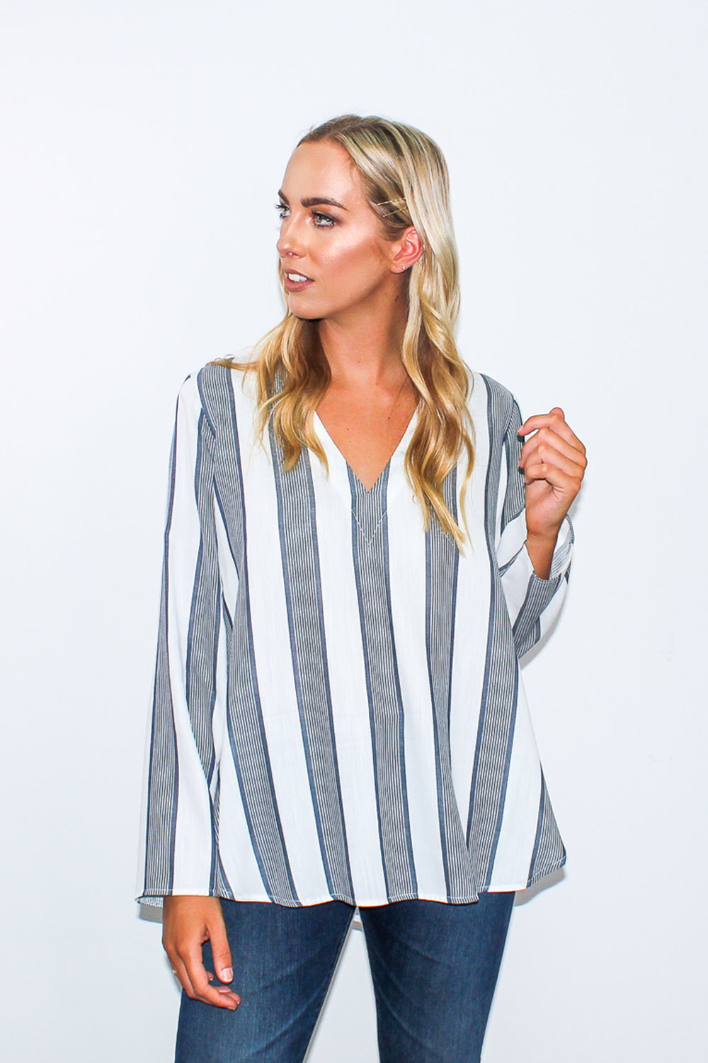 FASHION SOCIETY - FS24 DEVONIE STRIPE KAFTAN