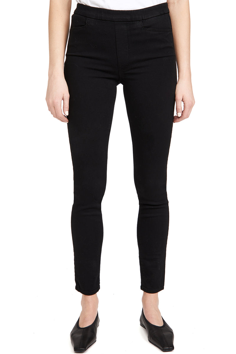PAIGE - HOXTON PULL ON ULTRA SKINNY BLACK SHADOW