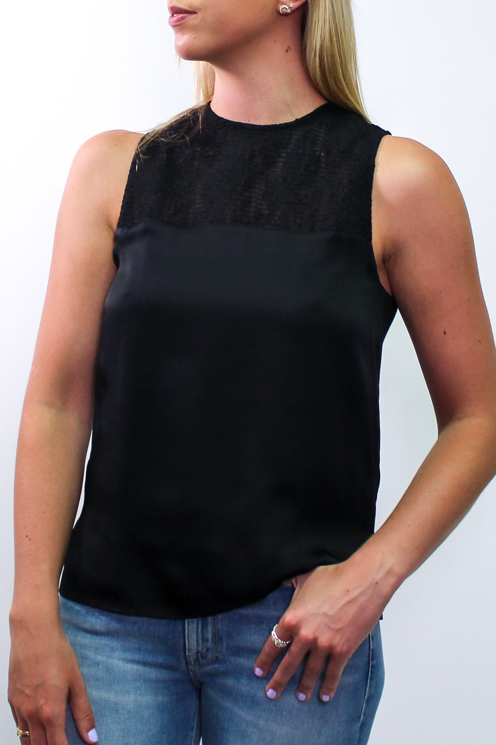 CAMI NYC - THE COLLETTE TOP BLACK