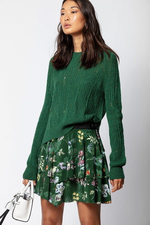 ZADIG ET VOLTAIRE - JIM PRINT SEASON SKIRT OFFICER WAS $449