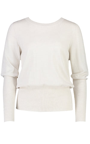 STANDARD ISSUE - SI1752 LONG RIB SWEATER ALABASTER