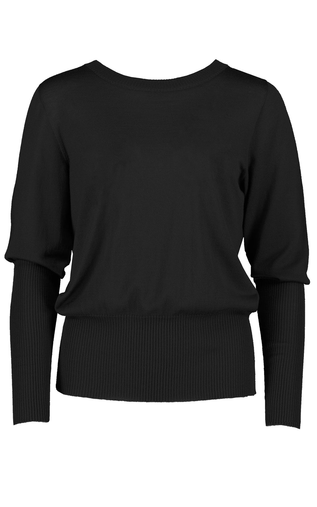 STANDARD ISSUE - SI1752 LONG RIB SWEATER BLACK