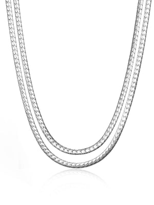 JENNY BIRD - PRIYA DOUBLE STRAND NECKLACE SILVER
