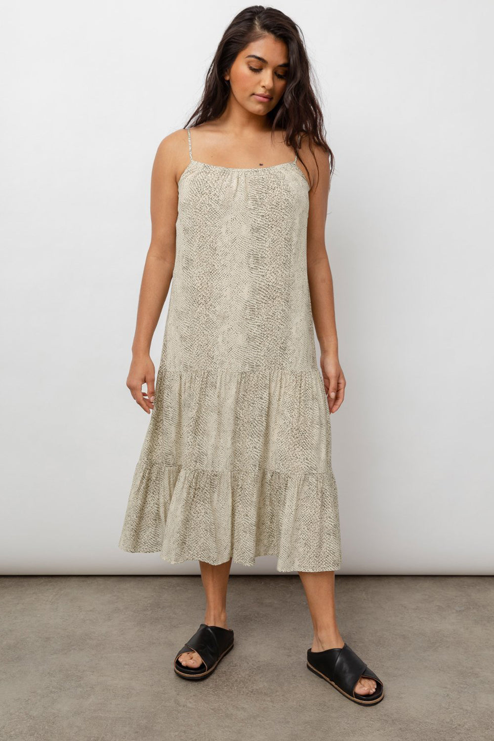 RAILS - ADORA DRESS CREAM SNAKESKIN