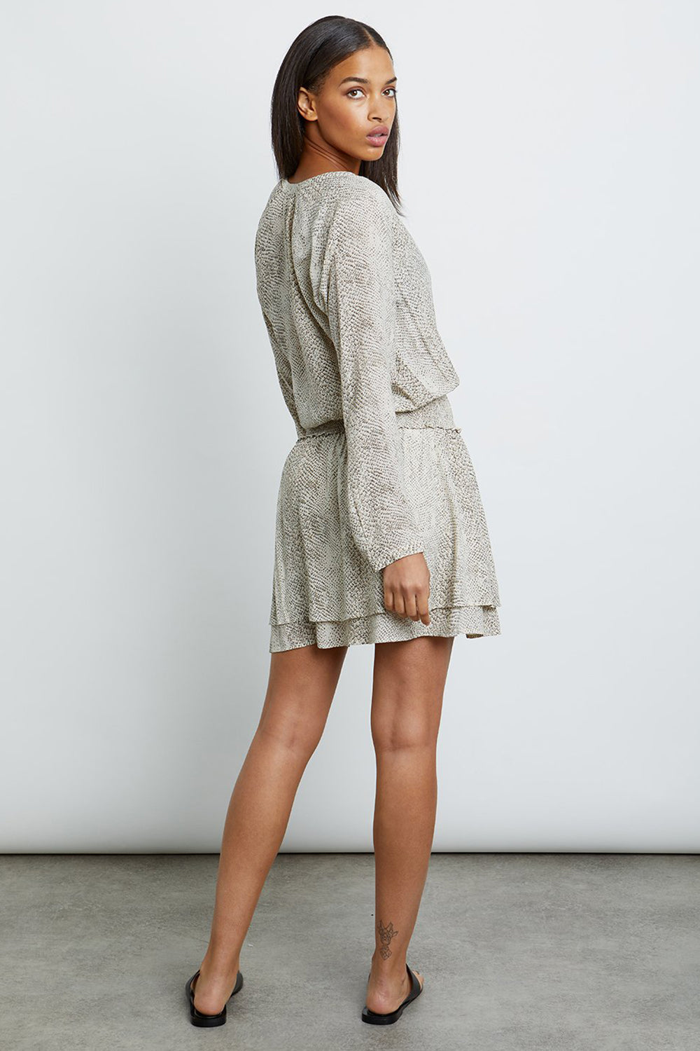 RAILS - JASMINE DRESS CREAM SNAKESKIN