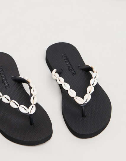 MYSTIQUE - SHELL FLIP FLOP WAS $149