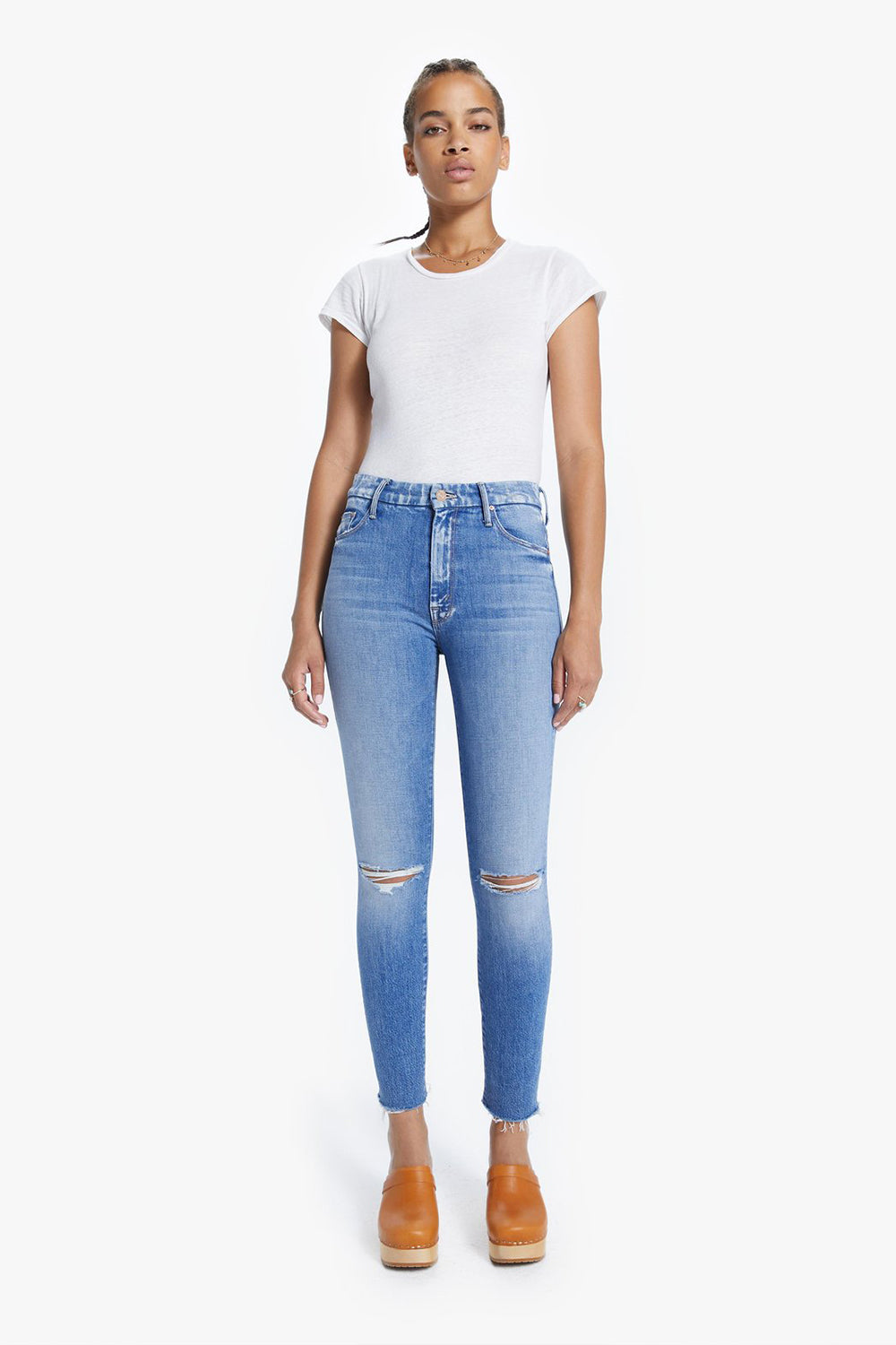 MOTHER - HIGH WAISTED LOOKER ANKLE FRAY SPICE IT UP