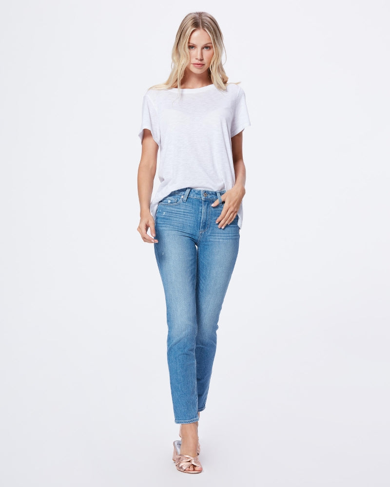 PAIGE - HOXTON HIGH RISE SLIM LEG CASANOVA DISTRESSED JEAN