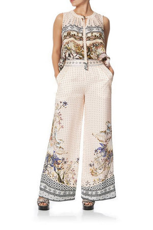CAMILLA - KINDRED SKIES WIDE LEG PANT WITH SHAPED CUFF