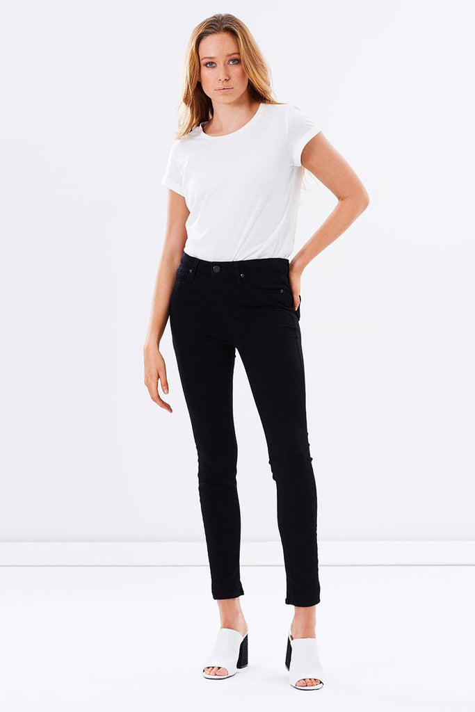 PAIGE - HOXTON ULTRA SKINNY BLACK SHADOW