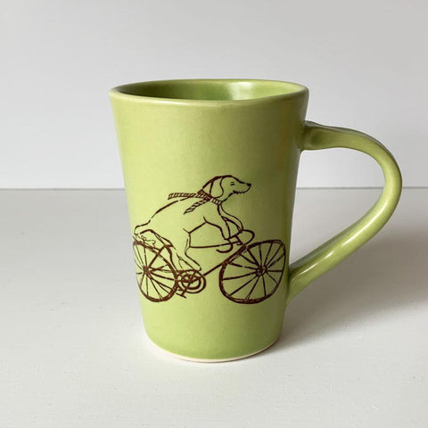 Dog Riding a Bike Mug | Bella Joy Pottery