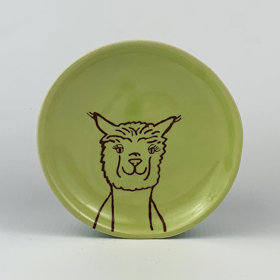Ring Dish-Illustrated Alpaca Design