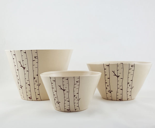 Bella Joy Pottery | Bowl Set | Birch Tree Bowl Set