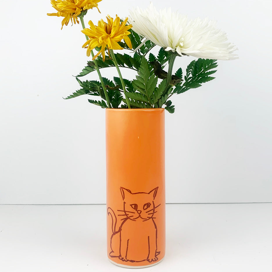 Cat Vase - Large Size