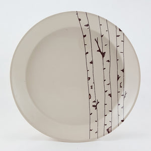 Large Porcelain Plate | Birch Tree Design | Bella Joy Pottery