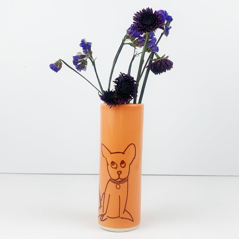 Dog Vase - Medium Size
