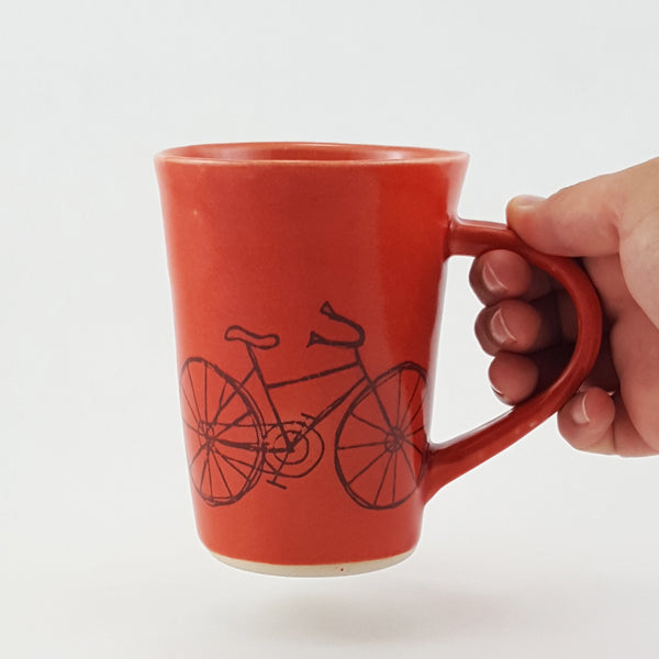 Ceramic Mug | Bike | Bella Joy Pottery