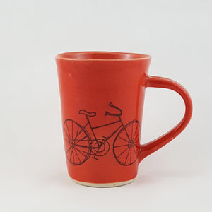 Ceramic Mug | Illustrated Bike | Bella Joy Pottery