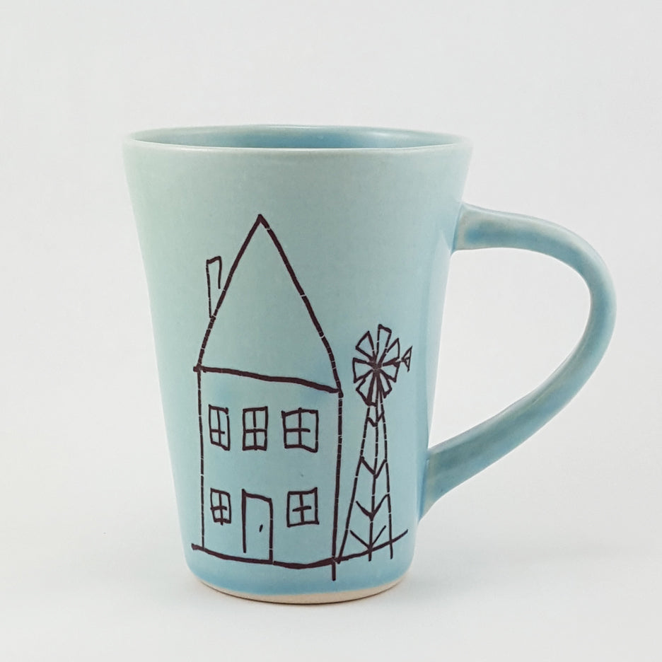 Ceramic Mug | Illustrated City Mouse Country Mouse | Bella Joy Pottery