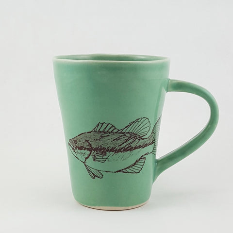 Handmade Fish Mug | Fish Design | Bella Joy Pottery