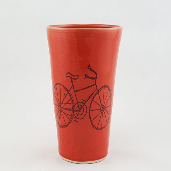 Large Cup | Bike Design | Bella Joy Pottery