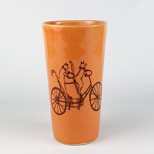 Pint - Illustrated Cats Riding a Bike Design
