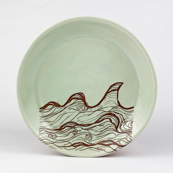 Small Plate - Illustrated Wave Design