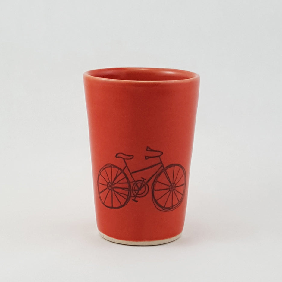 Small Cup-Bicycle Design - Bella Joy Pottery