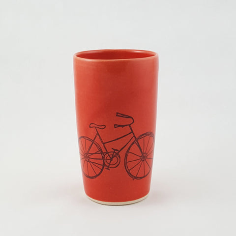 Ceramic Cup | Bicycle Illustration | Bella Joy Pottery