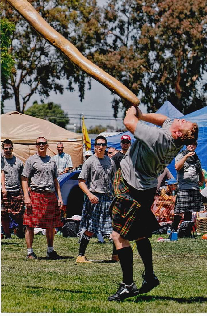 Caber Toss: why long sticks give you trouble