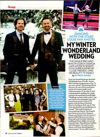 Sheehan & Co. Custom Suits for Louis Van Amstel Wedding, People Magazing