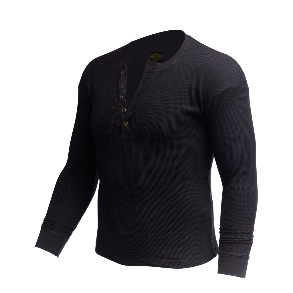 Men's Vintage Revival Long Sleeve Thermal Henley Shirt