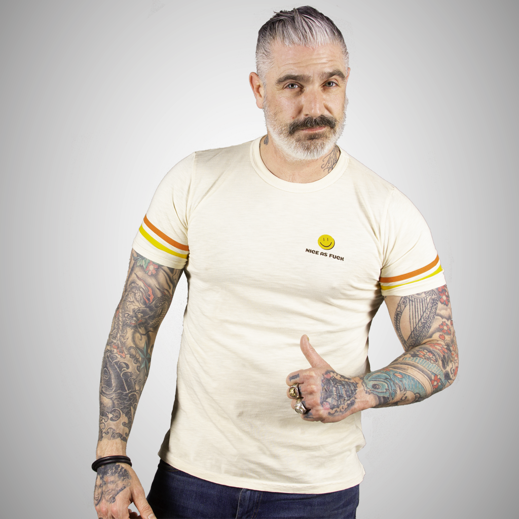 e78f4d95 Sheehan-and-Company-Menswear-Nice-as-Fuck-Statement-Tee-Tea -Orange-Yellow-Strap-Tee-Front.png?v=1554828269
