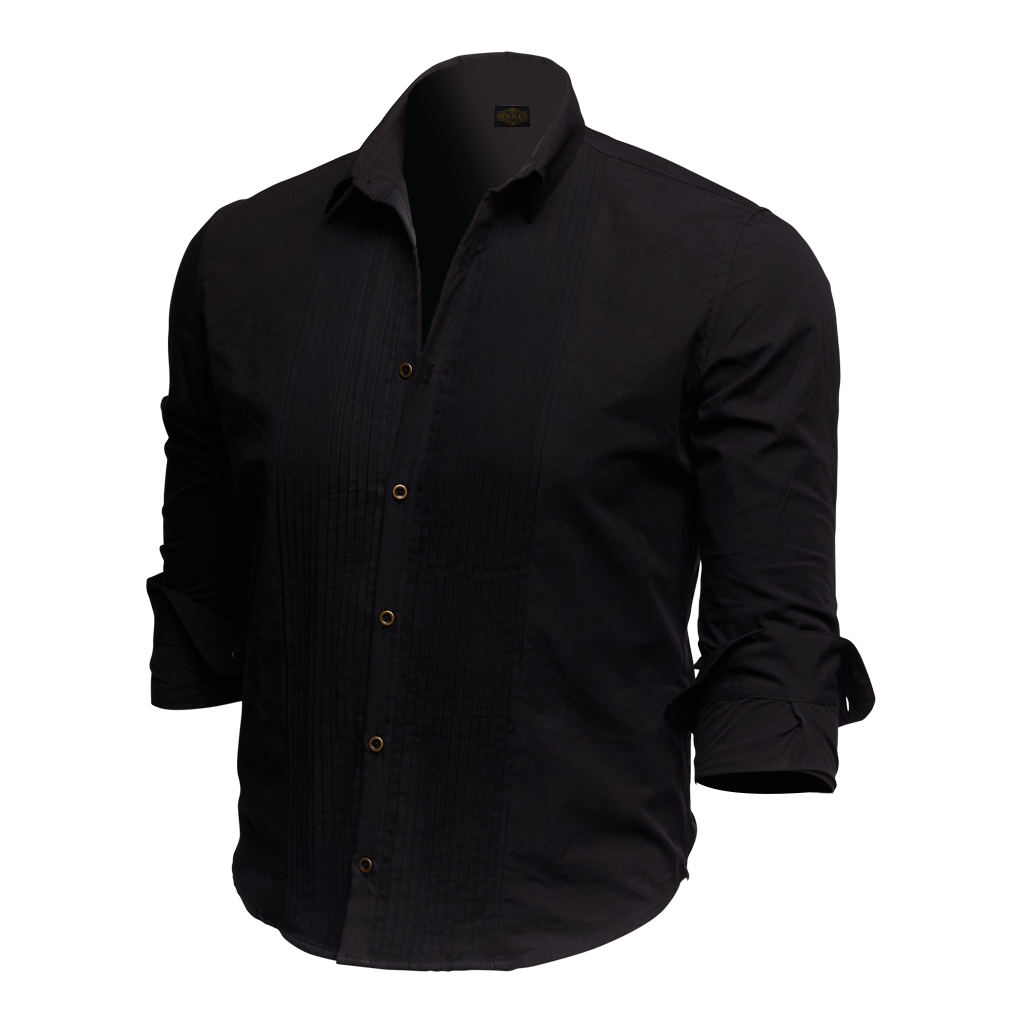 Designer Tuxedo Button Up Shirt