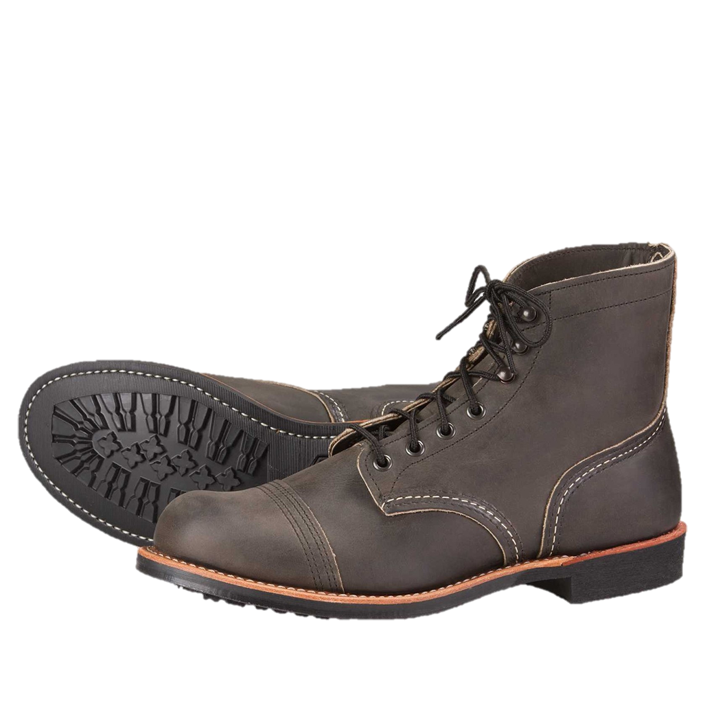 Red Wing Iron Ranger 8086 Charcoal Rough & Tough Leather