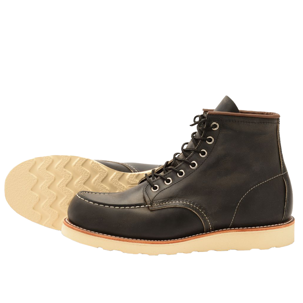 Red Wing Classic MOC Style NO. 8890 Charcoal Rough & Tough Leather