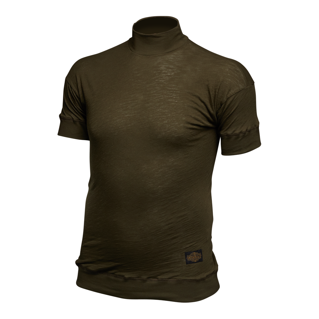 Signature Sleeve Basic Short Sleeve Turtleneck