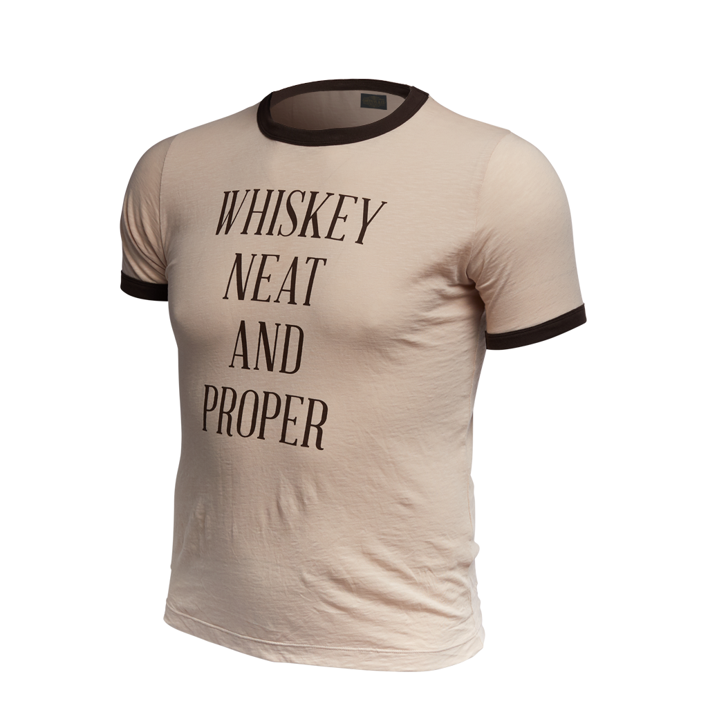 Whiskey Neat and Proper Statement Tee