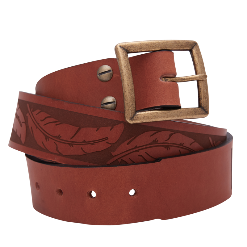 Feather Leather Belt