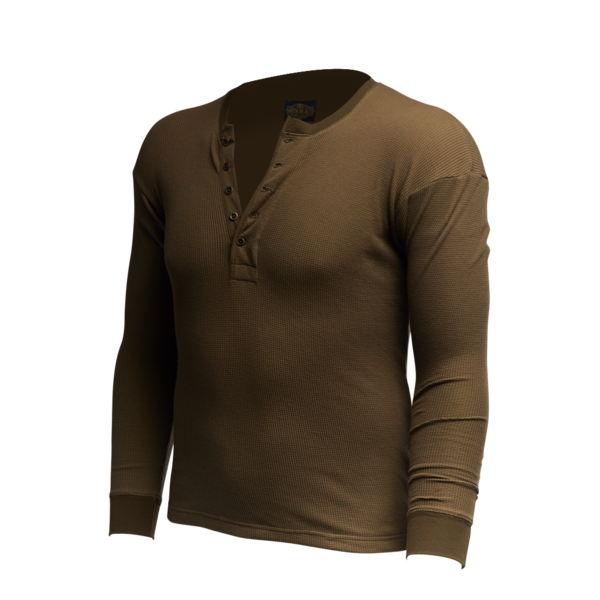 Vintage Revival Long Sleeve Thermal Henley Shirt