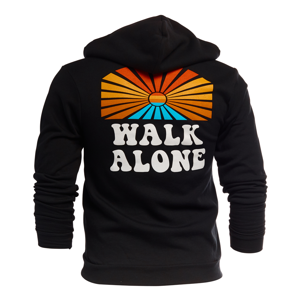 Walk Alone Statement Hoodie - Black