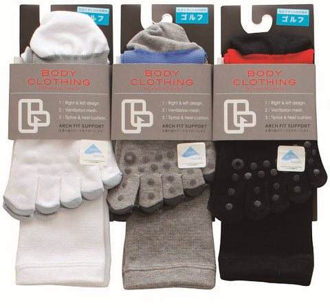 Five Toe Mid-Calf Golf Socks