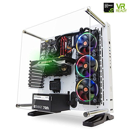 [GTX 1080 VR Ready] SkyTech Supremacy Gaming Computer PC Desktop i7-6700K 4.0Ghz, 360mm RGB Liquid Cooled, GTX 1080 8GB, 2TB HDD, 480GB SSD, 32GB DDR4, Win 10 Pro 64-bit